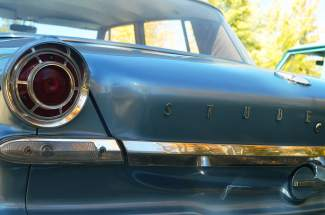 Classic round taillights on a fully restored 1963 Studebaker Lark.