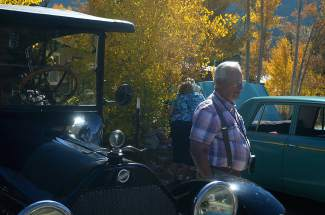 Tom Wheeler displays a 1917 Studebaker he restored to premium condition