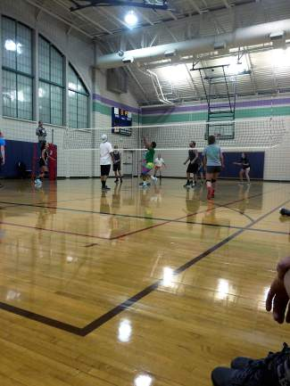 Breck Monday night volleyball league. Submitted via Instagram by user @austynwill using #SumCOSports.