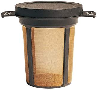 The MSR MugMate reusable coffee filter ($17), a French press-style system that easily fits inside a coffee mug for backpacking.