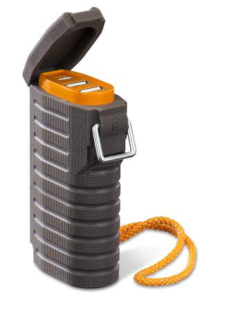 The myCharge All-Terrain portable charger ($39.99-$59.99) for all USB devices like phones, radios and GPS devices.