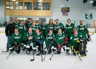The Peak One Surgery Center team at the 2016 Summit Hockey Classic in Breckenridge. The team survived a two-round tournament to win the 2016 title with a 7-2 victory over Vail-Summit Orthopaedics on April 2.