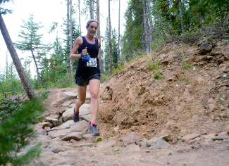 A runner picks her way down the rough and rocky final mile of Toms Baby during the final race of the 2015 Summit Trail Running Series on Aug. 27 in Breckenridge.