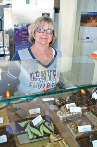 Becky Foote became a Broncos fan in the late 60s, when she worked as an x-ray tech for the team. When she's not celebrating a win, Foote works at her family's namesake business, Foote's Rest Sweet Shoppe and Eatery.