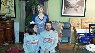 Dillon resident Jenni Hargan shared this old photo of her, her mother and brother after the AFC championship game in 1987.