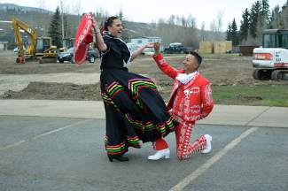 The Folklorico Dancers performed at the town of Silverthorne and Lake Dillon Theatre Company's celebration for the new Performing Arts Center.