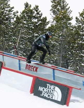 Two-time Olympic gold medalist Shaun White goes for the rail slide on his first qualifying run during the U.S. Grand Prix at Breckenridge in January. White later opted out of the X Games to train at Copper for the Sochi Olympics.