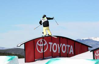Breckenridge's Keri Herman goes for a rail slide during the 2014 Dew Tour finals in December. The Sochi Olympian and X Games medalist earned her first Dew Tour title after having perviously finished second and third at the event.