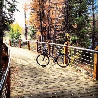 Silverthorne assistant town manager Ryan Hyland snapped this photo of his bike on Segment 5 of the Blue River trail. On Thursday, town of Silverthorne officials are hosting a ribbon cutting ceremony and tour of the recently completed segment that runs from Silverthorne Town Hall to the Tammy Lynn Jamieson Memorial Bridge.