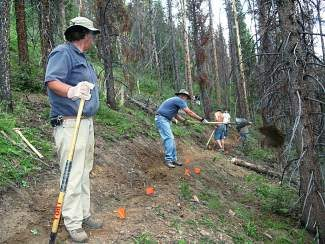 Volunteers work on a realigning a portion of the Colrado Tail as part of a  summer trail work project last year. The Town of Breckenridge will host a trails open house and information session Monday, May 19, to present news  on upcoming trail plans for the summer season.