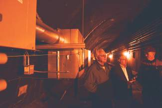 About 18,000 feet of pipe run through the tunnels' ventilation areas, located just above each bore.