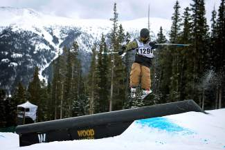 Kyle DeLong slides a rail feature during the 2014 USASA Nationals at Copper Mountain. The annual competition gives athletes age 5 to 60-plus an opportunity to showcase their talent on a big stage, beginning April 2 with snowboard slopestyle, halfpipe, boardercross, slalom and giant slalom.
