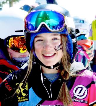 A young competitor gets ready for her heat at the youth division girl's and boy's boardercross qualifier at Copper Mountain on April 6. All told, the USASA National Championships drew roughly 400 competitors from across the U.S. and world for five days of competition in four disciplines.