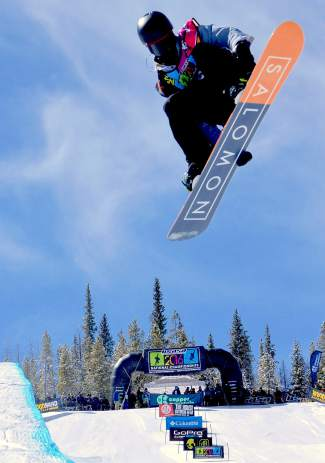 Ryan Wachendorfer of Edwards airs out of the halfpipe during the men's open division qualifier at the USASA National Championships in Copper on April 7. Wachendorfer went on to take first in the finals.