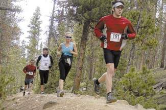 Mark Fox/Summit DailyRunners making their way along the Flumes Trail while taking part in the Summit Trail Running Serie.