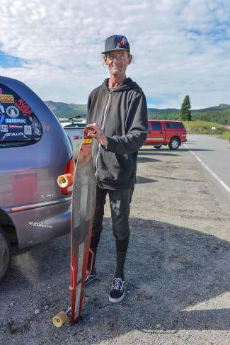 Summit local Slim Decamp with his creation,