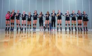 Taking to the hard court with the Tigers volleyball team, shot by @louietraub