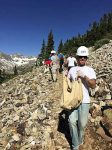 Veterans of Foreign Wars Post 1 member Matthew Beal transports rock down a section of the Quandary Peak trail during a volunteer work day on June 25. The VFW volunteers joined other veterans organizations to move rock for a retaining wall.