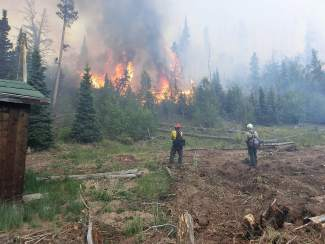 Summit County fire crews on scene to fight northern Colorado