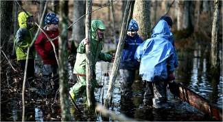 """""""School's Out: Lessons from a Forest Kindergarten"""" follows a group of school children in Switzerland who go to school in the woods every day, no matter the weather."""