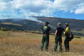 First responders arrived to the wildfire that went ablaze behind the Brush Creek Ranch north of Silverthorne in October 2015, which cost the county $200,000-plus to get under control. New legislation proposed by Rep. Jared Polis and passed the U.S. House on Feb. 29 would offer more federal funds to the U.S. Forest Service in fire suppression and mitigation efforts.