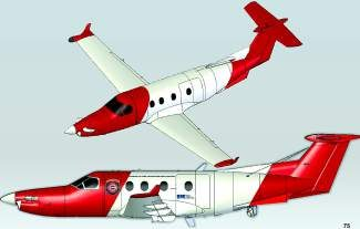 The Colorado Division of Fire Prevention and Control recently completed the inspection and purchase of one of two wildfire surveillance aircraft from contractor and operator Sierra Nevada Corporation. Pictured is one of four possible paint schemes for the aircraft, which is scheduled for delivery on Dec. 1.