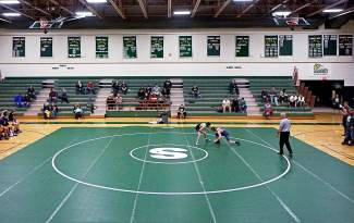 The Summit wrestling team takes on Basalt during a home met on Jan. 13. The Tigers team is small (only six members) but looks strong this season, with two expected to make the state tournament.