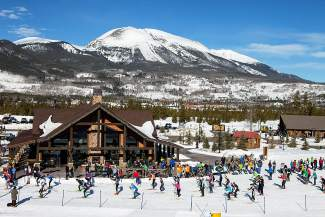 Skiers pass by the Nordic center at Frisco Adventure Park during a 2014 race. This year, the Frisco Breski ski mountaineering race debuts at the Frisco Nordic Center on Jan. 23.