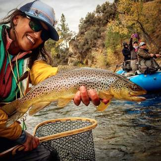 Hilary Hutcheson's Instagram account, outsidehilary, shows her fly-fishing adventures, among other trips she goes on.