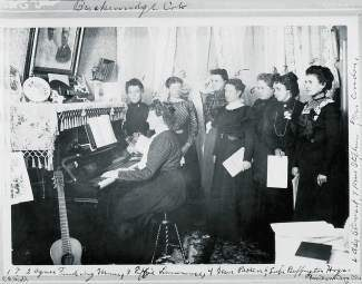 Glee clubs were a way for women who had left their families to adjust to a very different living situation where they were greatly outnumbered by men. Clubs such as this were a way to make friends and be part of the social environment. Learn more about how women adapted to and shaped High Country life this weekend at Women's History Month events in Frisco and Breckenridge.