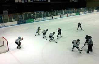 The Fatty's Fury team on the ice against Aspen in Vail for the finals of the women's Mountain Division hockey championships on April 3. The local Fatty's team won, 5-1, after a weekend of close shootout matches.