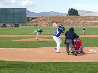 A Summit pitcher hurls the ball during the first-annual Mountain West Summer Collegiate Baseball League All-Star Game, played in Grand Junction on July 2. Summit and the East beat Glenwood, Grand Junction and Colorado Springs with the West, 6-2.
