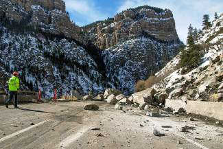 Interstate 70 through Glenwood Canyon will have lane restrictions this summer as crews work to reduce the risk of further rockfall at the site of February's recod-long slide.