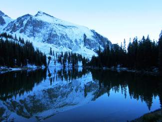Enjoy the early morning views of Alta Lakes, which is 30 minutes above Telluride.