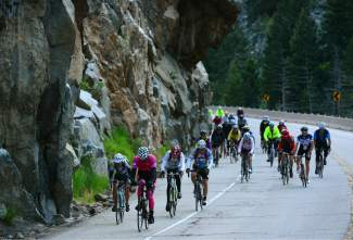 Cyclists make their way through the Narrows, the steepest climb up Boulder Canyon, for the 2014 Ride the Rockies bike tour. The annual event returns to Summit County and the Central Rockies again this summer from June 11-17 for six days and 400 miles of cycling.