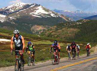 Cyclists head over Independence Pass during Ride the Rockies cycle tour in 2013. The annual event returns to Summit County and the Central Rockies again this summer from June 11-17 for six days and 400 miles of cycling.