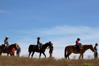Horseback riding is one of the many activities Roundup River Ranch campers enjoy.