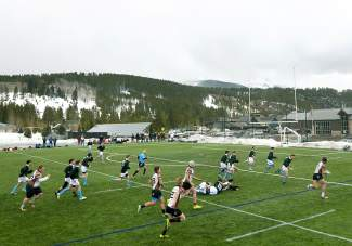 The Summit boy's rugby team player its first home game of the season — and the club's history — on March 12 against Palmer at Kingdom Park in Breckenridge. The Summit team lost, 0-74, and now looks to improve through the season, even if improvement doesn't realistically mean more wins.