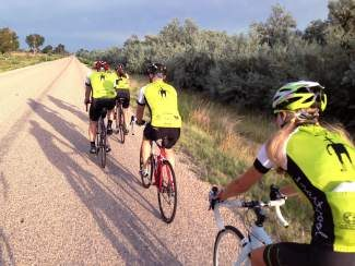 Smart Wool employees and invited guests made their annual bike ride from Steamboat Springs to Park City, Utah, to attend Outdoor Retailer in Salt Lake City. The trip took 4 days and covered over 360 miles.