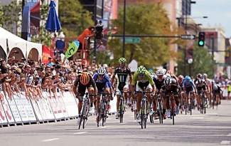 DENVER, CO - August 25: Peter Sagan of Cannondale Pro Cycling Team, front, won the 75 mile 7th stage of 2013 USA Pro Challenge race in Denver. Denver, Colorado. August 25, 2013. (Photo by Hyoung Chang/The Denver Post)