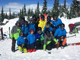 The Team Summit big mountain team basks in the glow of top-10 finishes and good ol' sunshine after the Crested Butte regional freeskiing event in early February, shot by @teamsummit