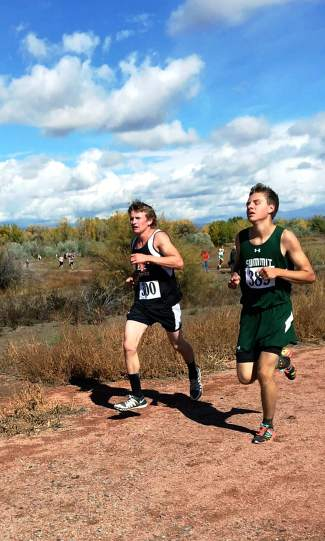 Summit's Alex Mason at the 4A league meet in Delta on Oct. 23.