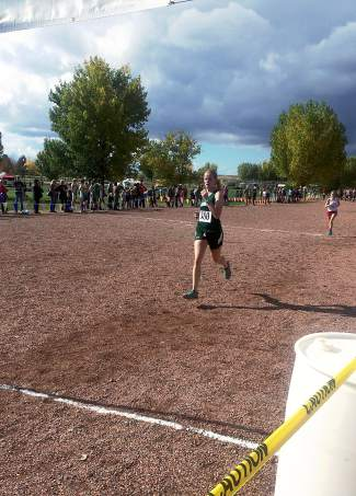 Summit's Megan McDonnell at the 4A league meet in Delta on Oct. 23.