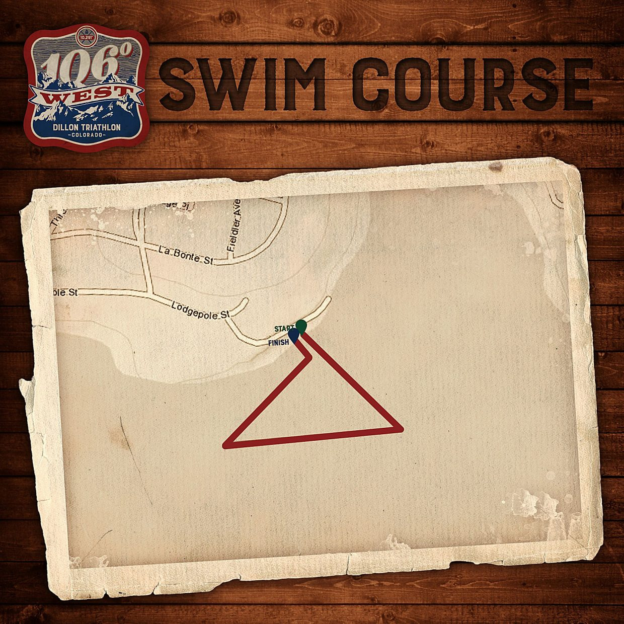 The 1.3-mile swim route for the debut 106 West Triathlon in Dillon on Sept. 10. Spectators can post up at the Tiki Bar or anywhere at the Dillon Marina and nearby park to catch the action, beginning at 9 a.m.