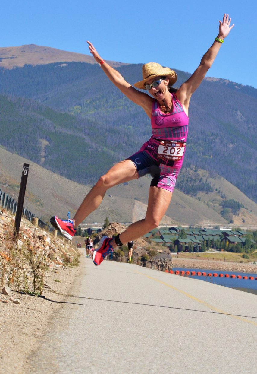 She's still got energy: Scenes from the debut 106 West Traithlon, the first-ever half-Ironman held in Summit County and the only event with an open-water swim on Dillon Reservoir. More than 700 athletes from across the nation came to Dillon Marina for the 70.3-mile race on Sept. 10.
