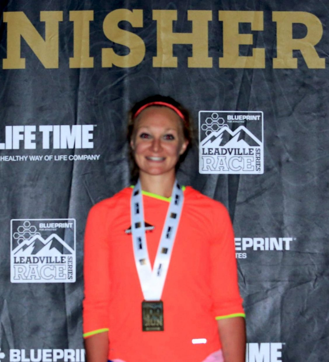 Breck ultra-runner Sabrina Stanley after crossing the finish line at the Leadville 100 Trail Run on Aug. 20. Stanley finished in just under 22 hours and 30 minutes — nearly 2 hours and 30 minutes faster than her original goal.