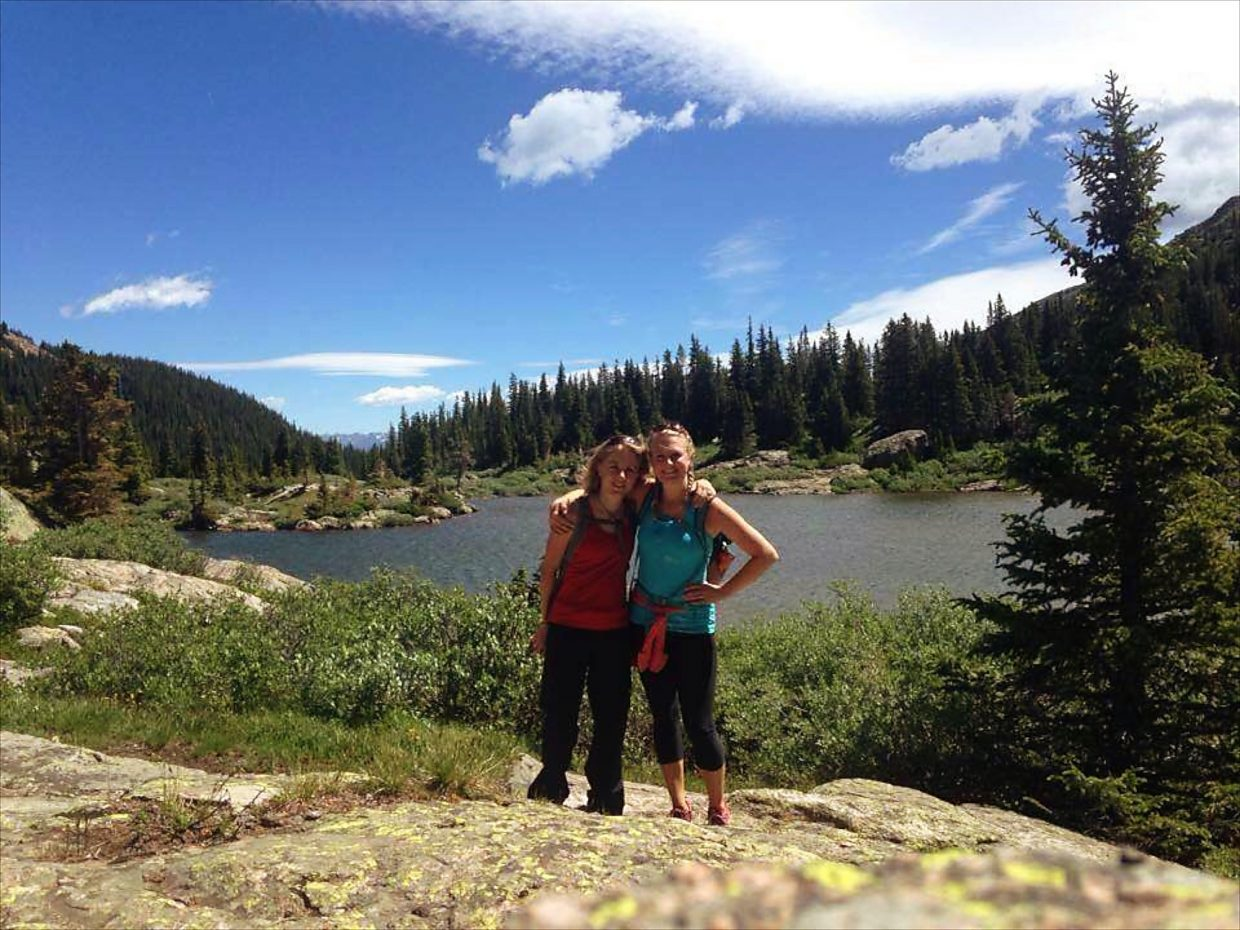 Laura Grangaard Johnson and Melanie Grangaard complete the hike to Lake Constantine. The Cross Creek drainage has a different geological feel than most other local hikes, making the journey to Lake Constantine as beautiful as the lake itself.