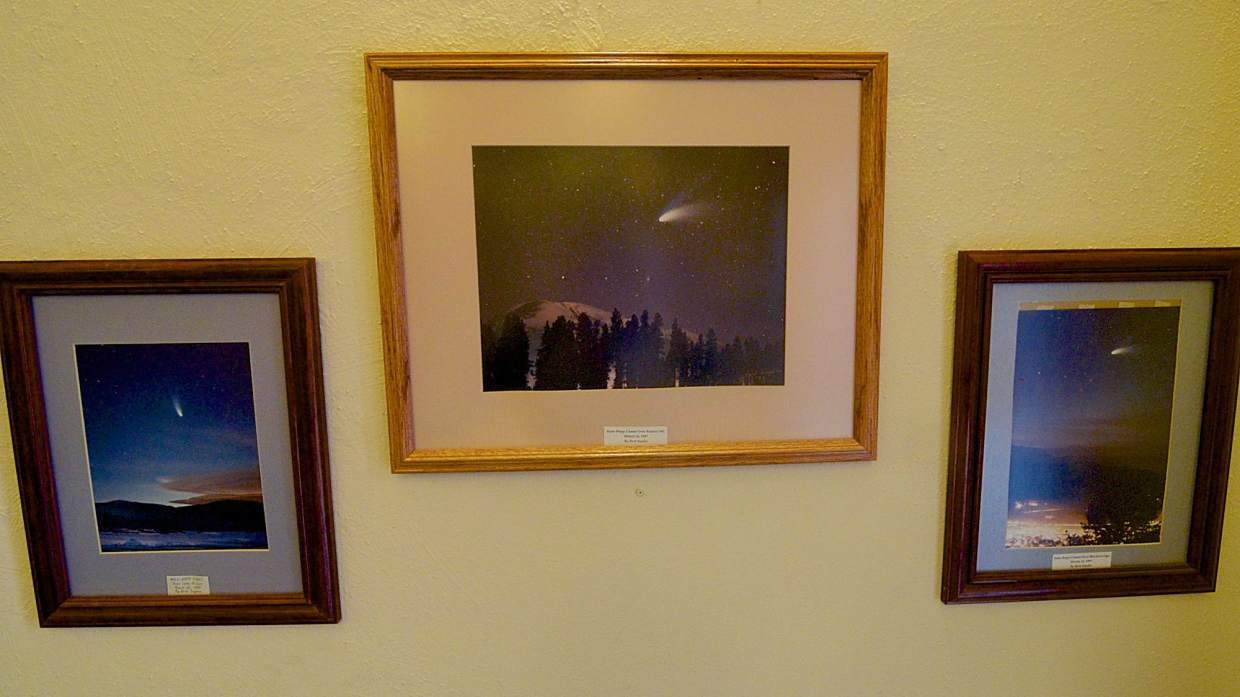 A collection of Bert Snyder's Hale-Bopp Comet photos from March 1997. The photos are found just inside the entrance of the old Summit County courthouse in Breckenridge.