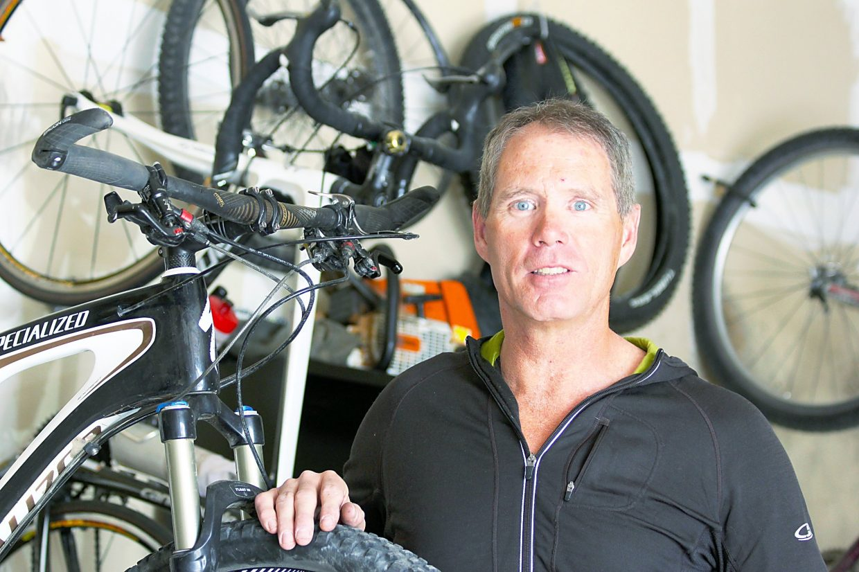 "For over 20 years the Summit Fat Tire Society has been taking care of trails in Summit County and Mike Zobbe(pictured) has been there since the beginning. Why? ""Cause I like mountain biking. It's totally selfish."""
