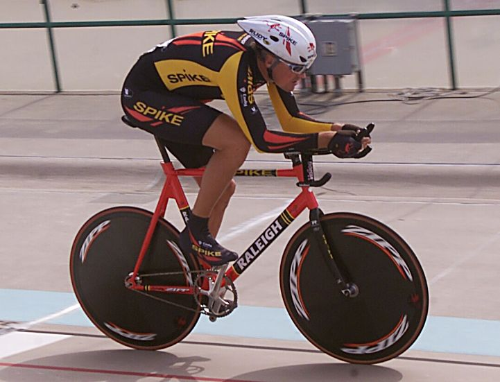 Summit County resident Bill Ramsay on the track at the 2006 U.S. National Championships for track cycling. Between racing solo on the U.S. and PanAmerican circuit, the 55-year-old Colorado Springs native acted as a pilot for a Paralympic tandem team with Randy Hampton, a visually impaired cyclist.